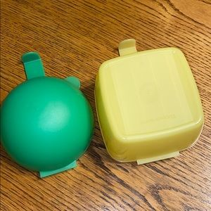 Tupperware Cheese and Onion keepers